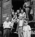Weinschenker Family En Route to the United States