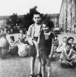 Jewish Orphans Appearing in a Film