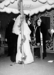 Rabbi Manfred Swarsensky Officiating at a Wedding