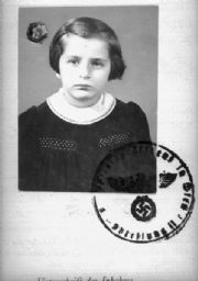 Passport Photograph of Susanne Hafner Goldfarb (#2)