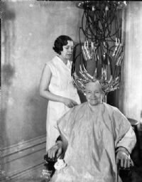Betsy Johnson Getting Permanent Wave