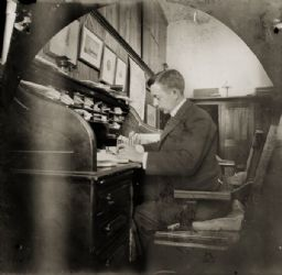 Reuben Gold Thwaites in his Office