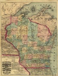 Blanchard's Map of Wisconsin and Northern Michigan