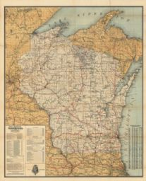 Official Railroad Map of Wisconsin