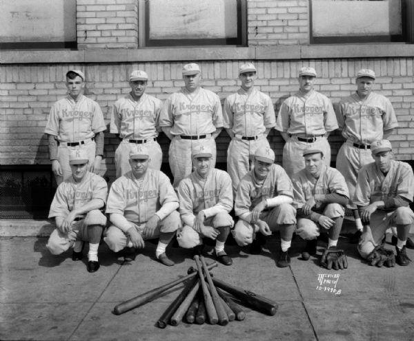 Kroger Baseball Team | Photograph | Wisconsin Historical Society