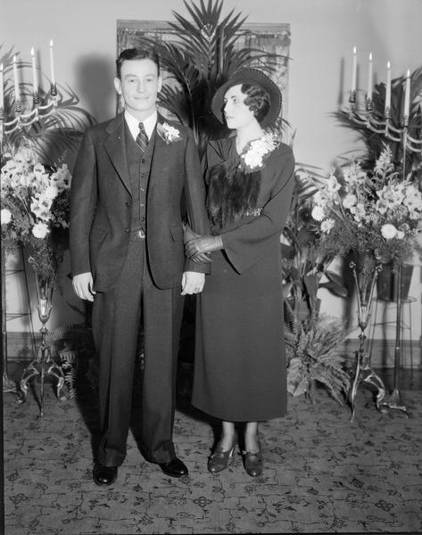 Valeria M. Keppel and Roland Fritz on their wedding day at the home of her parents, 825 S. Shore Drive.