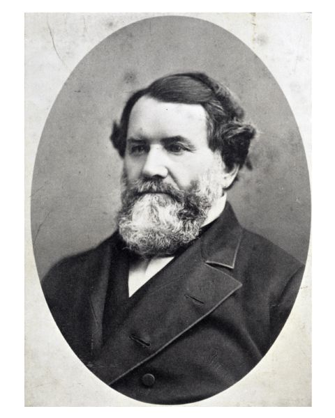 Portrait of Cyrus Hall McCormick (1809-1884). McCormick was a Chicago industrialist and inventor in 1831 of the first commercially successful reaper, a horse-drawn machine to harvest wheat. He formed the McCormick Harvesting Machine Company in 1848 to manufacture and sell his invention, and through innovative marketing techniques the Chicago firm grew into the largest farm equipment manufacturer in the United States. The company eventually became part of the International Harvester Company.