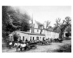 Brewery Wagons Delivering Beer
