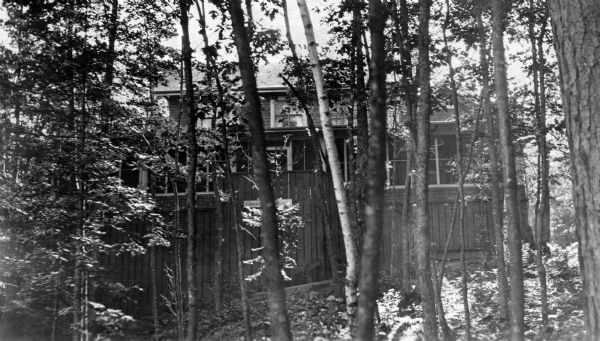 "View of the back of the Hull cottage, a.k.a. ""Coole Park Manor,"" on Madeline Island."