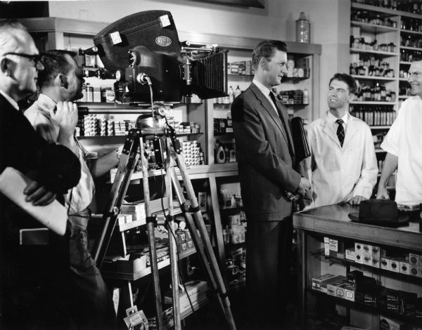 "The camera moves in on a retail pharmacy scene in ""Design for Life,""  a film produced by the American Association of Colleges of Pharmacy and the American Foundation for Pharmaceutical Education. The film is designed to interest promising students in a pharmaceutical career."