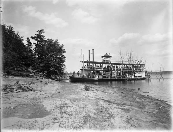 """Apollo No. 1"" steamboat at Louis Bluff."