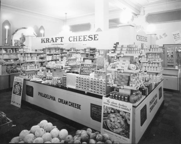 A Kraft cheese display at the Kroger Store located at 3 Pinckney Street.