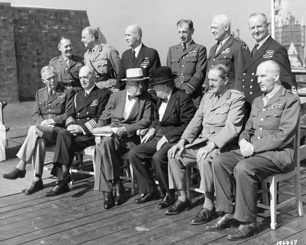 British and American combined Chiefs of Staff led by Prime Minister Winston Churchill and President Franklin D. Roosevelt. The conference was held in Quebec City, Province of Quebec, Canada.