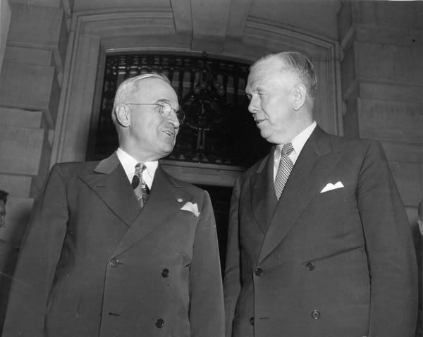 Image result for photo of Harry Truman and George Marshall