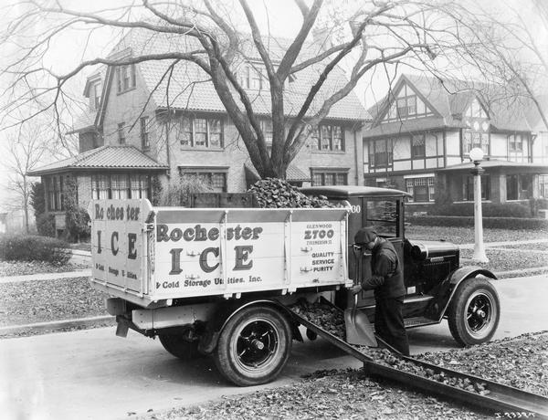 International Model S 26 Truck Delivering Coal To
