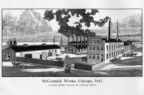 McCormick Reaper Works | Photograph | Wisconsin Historical