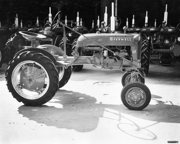 First Farmall Cub tractor produced at International Harvester's Louisville Works.