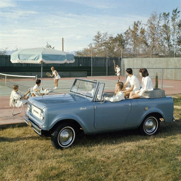 Couples Watching Tennis Match From International Scout Pickup Photograph Wisconsin Historical Society
