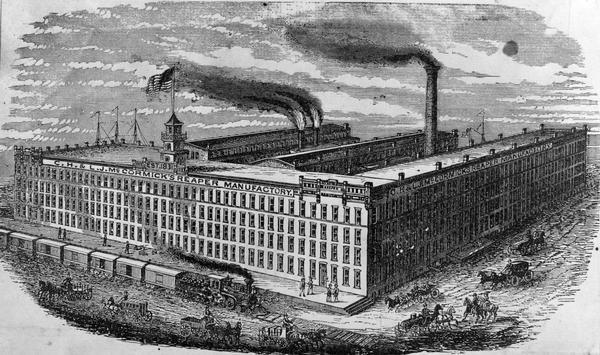 C H  & L J  McCormick's Reaper Manufactory | Drawing