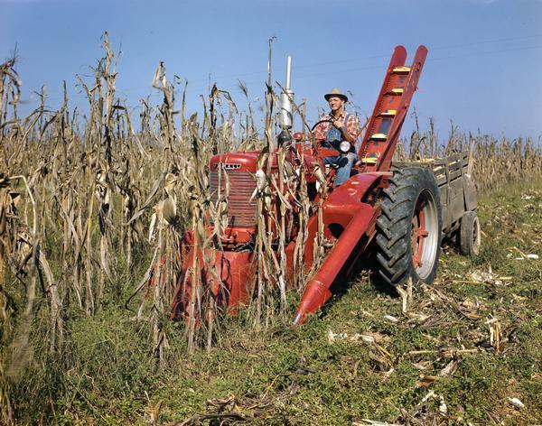 Cartoon Tractor Corn Picker : Farmall m tractor with no corn picker photograph