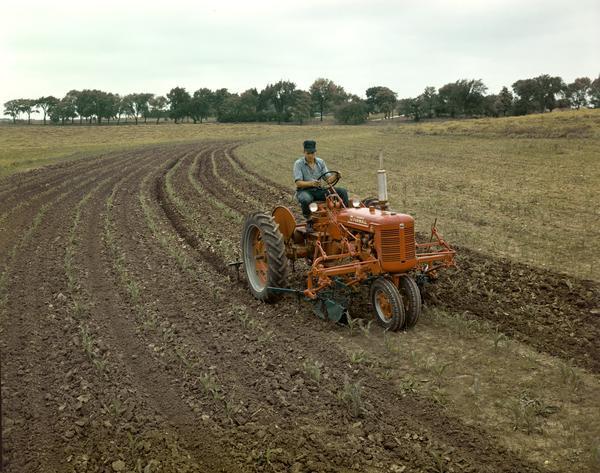 Farmall Super A Cultivator : Mccormick farmall c tractor with front mounted cultivator