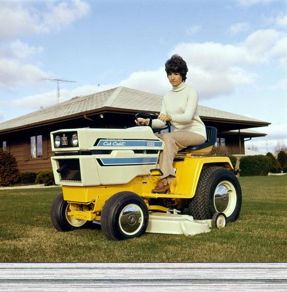 Woman On 1450 Cub Cadet Lawn Tractor Photograph