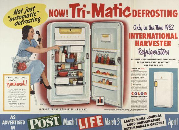 International Harvester Refrigerator Advertising Poster