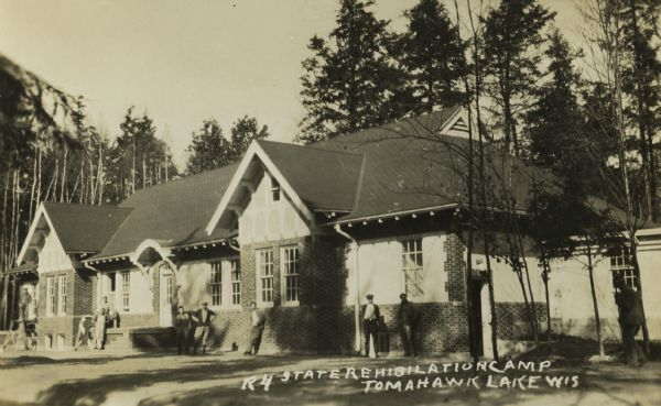 Exterior of building at State Tuberculosis Rehabilitation Camp in Tomahawk Lake.