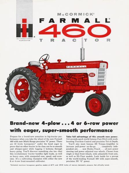 Farmall 460 Tractor Advertisement