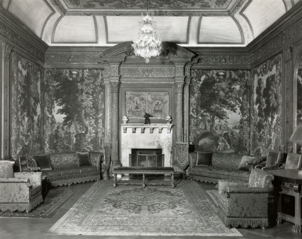 North end of the Tapestry Room at Cyrus McCormick, Jr.'s house at 50 East Huron Street.
