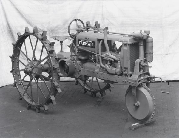 F-12 Tractor with Single Front Wheel   Photograph   Wisconsin