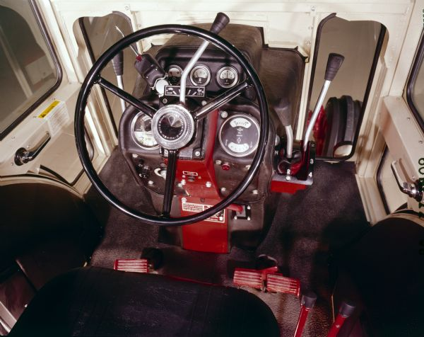 cab interior for the farmall 1066 tractor photograph wisconsin Tractor Power Take Off cab interior for the farmall 1066 tractor
