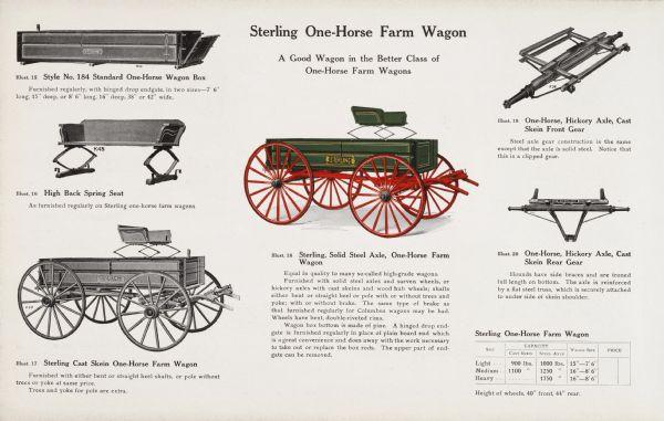 Sterling One Horse Farm Wagon