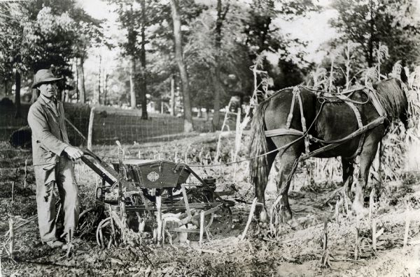 Horse Drawn Corn Planter Photograph Wisconsin Historical Society