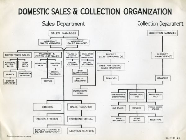 Domestic Sales and Collection Organization Chart