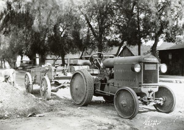 Deering Harvester Company : Mccormick deering industrial tractor photograph