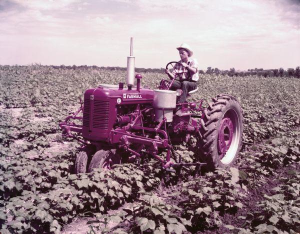 Farmall Super A Cultivator : Farmall super c tractor with cultivator photograph