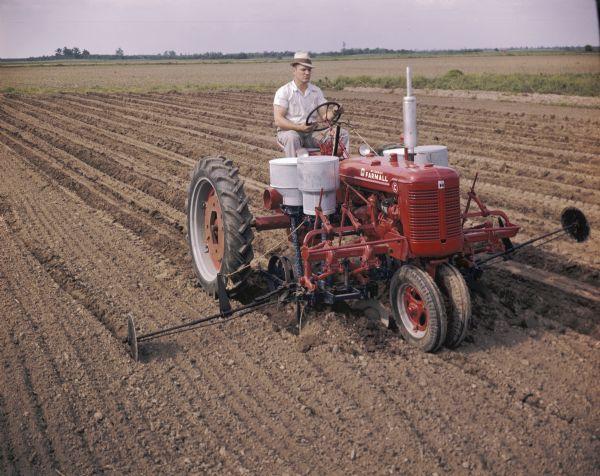 Farmall Super A Cultivator : Farmall c planting cotton photograph wisconsin
