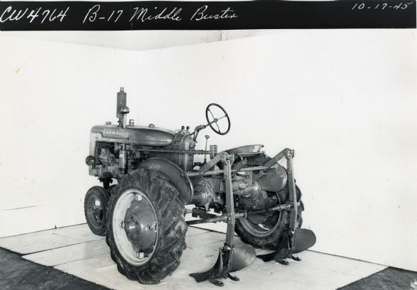 Farmall B with B-17 Middle Buster | Photograph | Wisconsin