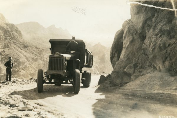 Man Driving International Truck at Hoover Dam | Photograph