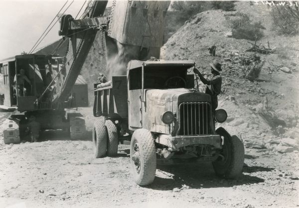 International Dump Truck and Shovel at Hoover Dam | Photograph