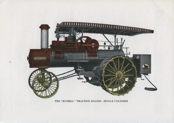 Russell Traction Engine   Print   Wisconsin Historical Society