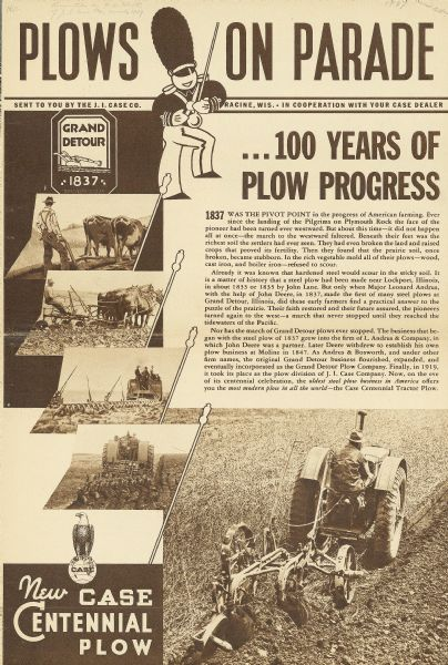 Business Book Cover History : Case centennial plow brochure book or pamphlet