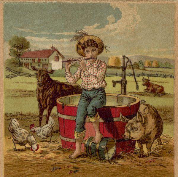 Deering Harvester Company : Deering harvester company foldout card — inside book or