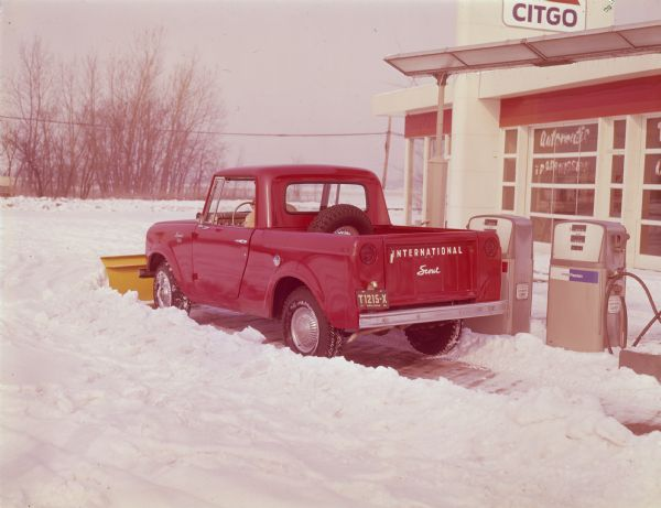 Scout With Snow Plow Photograph Wisconsin Historical Society