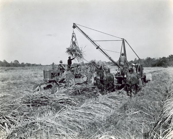 "The caption states the ""Farmall MV shown is owned by C.R. Tschirn of Donaldsville, Louisiana, who operates a 350-acre farm, 225 acres of which were in sugar cane."""