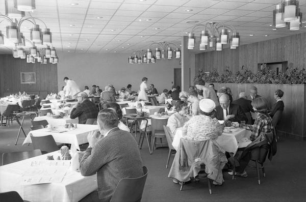 The restaurant at Austin Straubel Field. In 1965 Brown County completed a new passenger terminal at Austin Straubel Airport that included a large (and apparently popular) restaurant. The need for such passenger amenities was dictated by the field's status as one of the busiest airports in Wisconsin.