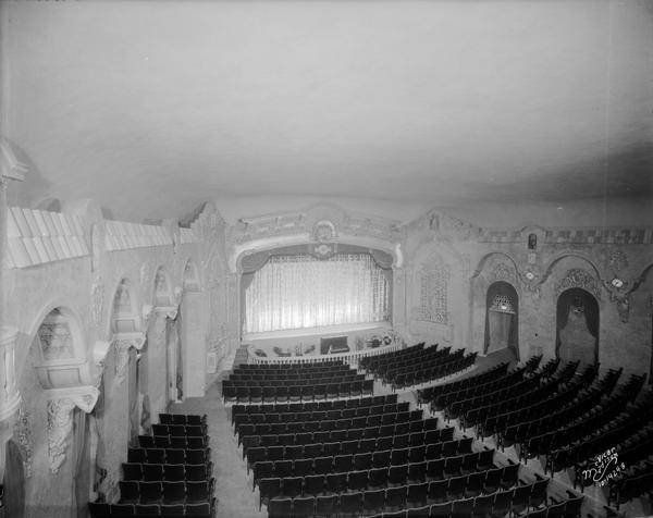View of the auditorium of the Eastwood Theatre from the left balcony, 2090 Atwood Avenue.