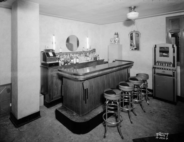 Kennedy Manor Dining Room Bar With Four Stools And Cigarette Vending Machine 1 Langdon Street