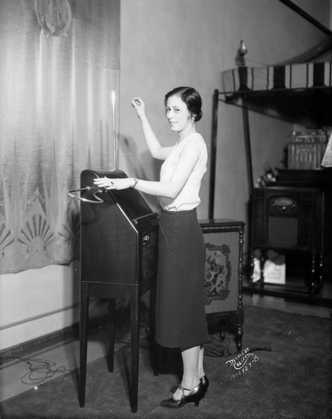 Playing the RCA Victor Theremin | Photograph | Wisconsin